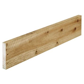Softwood Treated Sawn Timber (W)150mm (L) 1800mm Pack, Pack