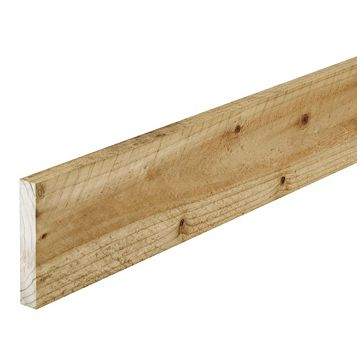 Softwood Treated Sawn Timber (W)75mm (L) 2400mm Pack, Pack