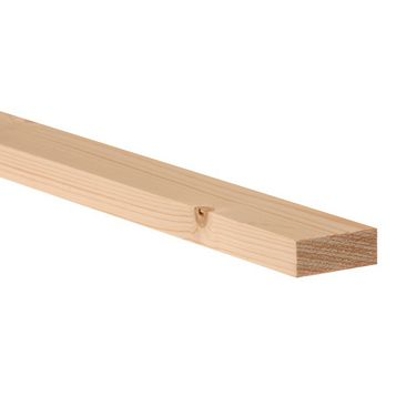 Softwood Smooth Planed Timber (L)2400mm (W)44mm (D)18mm, Pack of 6
