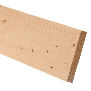 Softwood Smooth Planed Timber (L)2400mm (W)144mm (D)18mm, Pack of 4