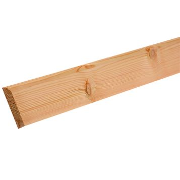 Metsawood Softwood Rounded Softwood Skirting, 94 x 15 x 2400mm