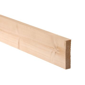 Smooth Planed Timber (T)28mm (W)126mm (L)2100mm Pack of 6