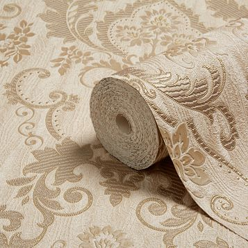 Valentina Gold Damask Trail Wallpaper