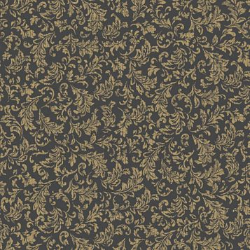 Sasha Black & Gold Effect Geometric Wallpaper