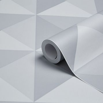 Valiant Grey Geometric Wallpaper