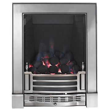 Focal Point Finsbury Full Depth Satin Chrome Manual Control Inset Gas Fire