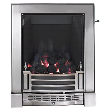 Focal Point Finsbury Full Depth Satin Chrome Slide Control Inset Gas Fire