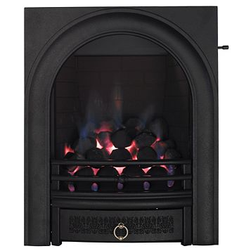 Arch Black Slide Control Inset Gas Fire