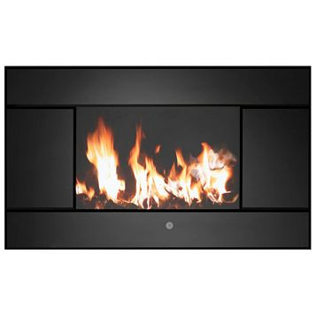 Evoke Black LCD Display Remote Control Wall Hung Electric Fire