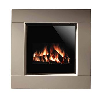 Nero Black LCD Display Remote Control Electric Fire Suite