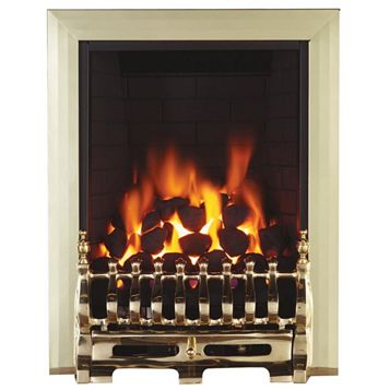 Focal Point Blenheim Brass Remote Control Inset Gas Fire