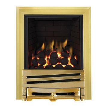 Focal Point Horizon Full Depth Brass Manual Control Inset Gas Fire