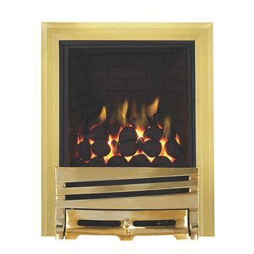 Horizon Full Depth Brass Effect Remote Control Inset Gas Fire