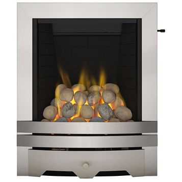 Lulworth Steel Effect Slide Control Inset Gas Fire