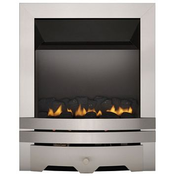 Lulworth Flue Less Steel Effect Manual Control Inset Gas Fire