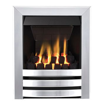 Focal Point Langham Multi Flue Chrome Remote Control Inset Gas Fire