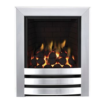 Focal Point Langham Full Depth Chrome Remote Control Inset Gas Fire