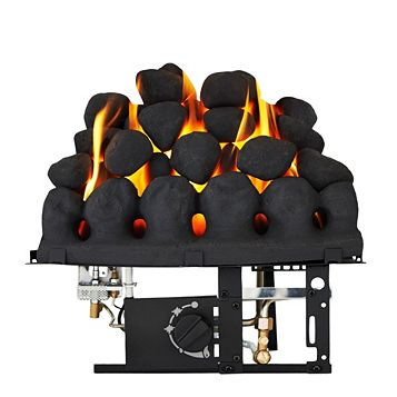 Focal Point Taper Black Manual Control Inset Gas Fire
