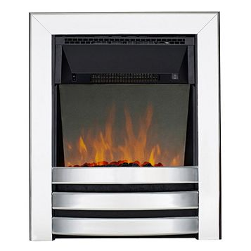Langham Aluminium Effect Inset Electric Fire