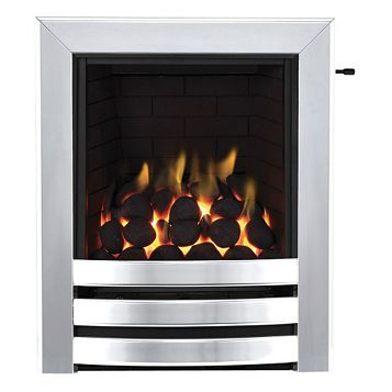 Focal Point Langham Full Depth Chrome Slide Control Inset Gas Fire