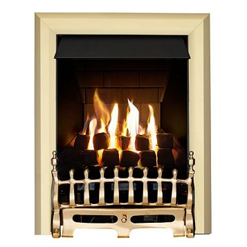 Blenheim Multi Flue Brass Effect Manual Control Inset Gas Fire