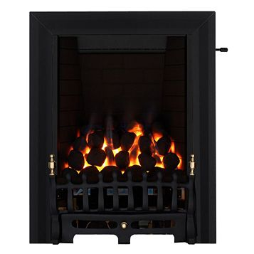 Blenheim Full Depth Black Slide Control Inset Gas Fire