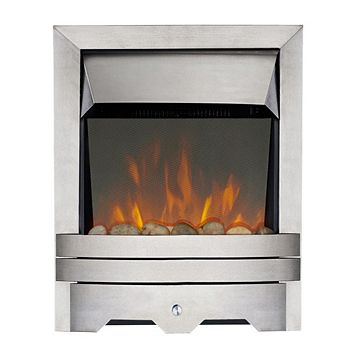 Lulworth Stainless Steel Inset Electric Fire