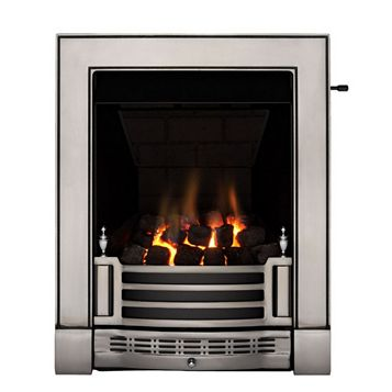 Finsbury Multi Flue Satin Chrome Effect Slide Control Inset Gas Fire
