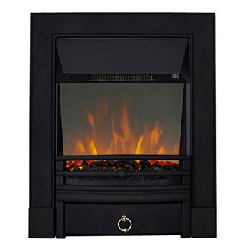 Soho Black Inset Electric Fire
