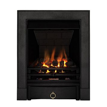 Soho Multi Flue Black Remote Control Inset Gas Fire