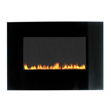 Radium LPG Black Manual Control Wall Hung Gas Fire