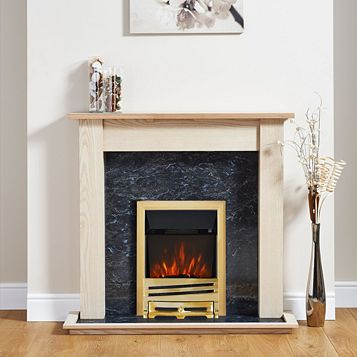 Horizon Brass Inset Electric Fire Suite