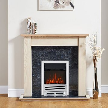Horizon Chrome Inset Electric Fire Suite
