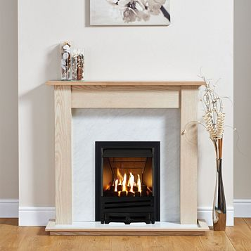 Horizon Black Inset Gas Fire Suite