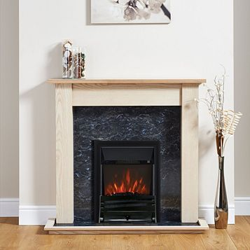 Focal Point Horizon Black Electric Inset Electric Fire Suite