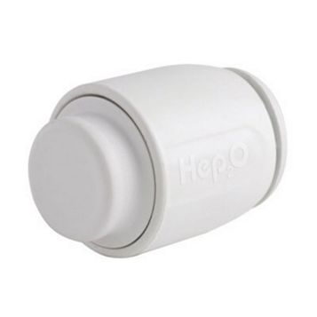 Hep2O Push Fit Stop End (Dia)15 mm, Pack of 10