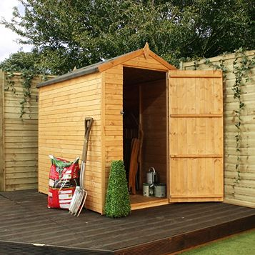 Shiplap+ 6X4 Apex Shiplap Wooden Shed - Assembly Required