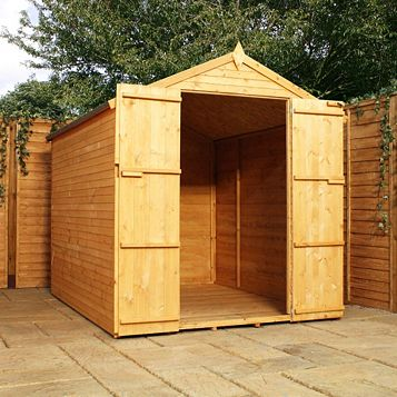 8X6 Apex Shiplap+ Wooden Shed - Assembly Required