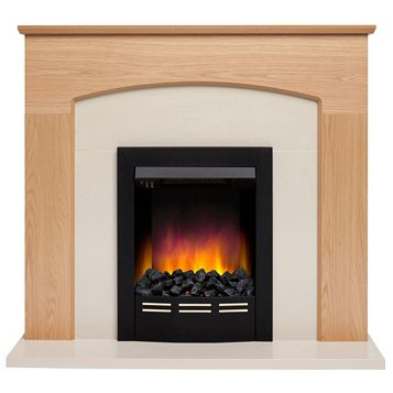 Be Modern Glenmere Black Electric Fire Suite