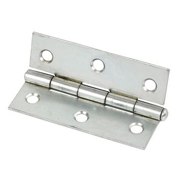 Zinc-Plated Steel Loose Pin Butt Hinge (L)76mm, Pack of 2