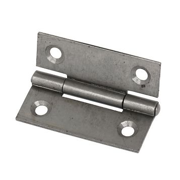Steel Fixed Pin Hinges (L)50mm, Pack of 2