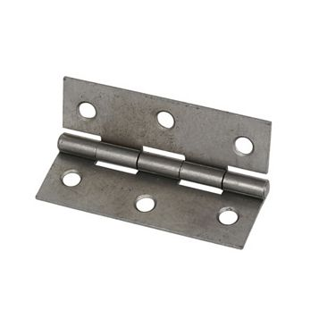 Steel Fixed Pin Hinges (L)75mm, Pack of 2
