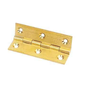 Brass Solid Drawn Brass Hinge (L)76mm, Pack of 2