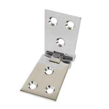Polished Chrome Brass Counter Flap Hinge (L)38mm, Pack of 2