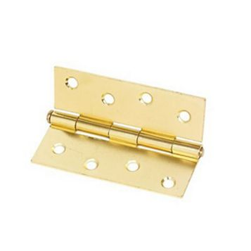 Brass-Plated Steel Loose Pin Butt Hinge (L)102mm, Pack of 2