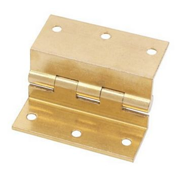 Brass Stormproof Hinge (L)63mm, Pack of 2