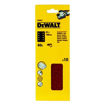 DeWalt 60 Coarse Sanding Sheet, Pack of 10