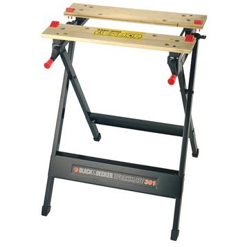 Black & Decker Foldable Vice Jaw Clamp Workbench, (W)160mm