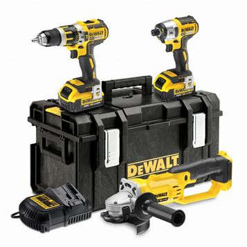 DeWalt 18V Li-Ion Power Tool Triple Pack 2 Batteries DCK382M2-GB