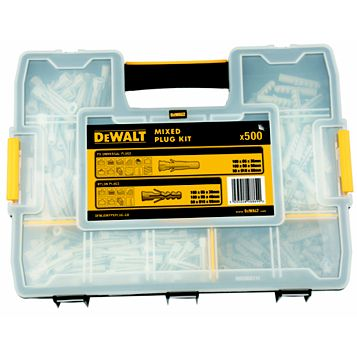 DeWalt Px & Nylon Plug Assortment Box, Pack of 500